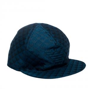 Emporio Armani Blue Logo Patterned Baseball Cap Size L