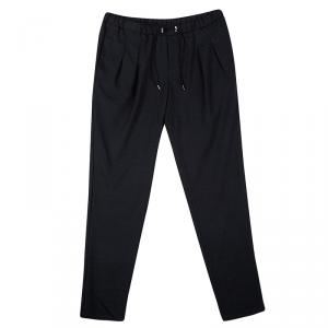 Emporio Armani SS'16 Grey Draw String Detail Straight Fit Pants XXL