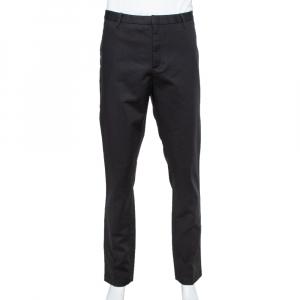 Emporio Armani Black Cotton Tailored Trousers 3XL