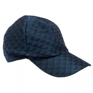 Emporio Armani Blue Pattern Logo Baseball Cap