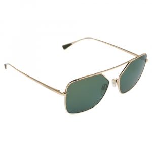 Emporio Armani Pale Gold Tine/ Petrol Green EA 2053 Pilot Sunglasses