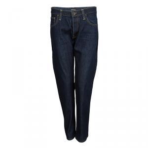 Emporio Armani Jude Indigo Dark Wash Denim Straight Fit Jeans S