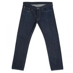 Emporio Armani Indigo Dark Wash Denim Robert Super Slim Fit Jeans M