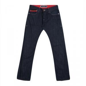 Emporio Armani Indigo Dark Wash Denim Johnny Slim Fit Jeans L