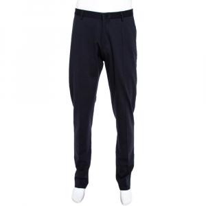 Emporio Armani Navy Blue Knit Pants M
