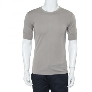 Emporio Armani Grey Cotton Short Sleeve Crewneck T-Shirt L