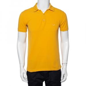 Emporio Armani Mustard Yellow Cotton Polo T-Shirt M - used