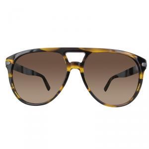 Ermenegildo Zegna Matte Light Brown/Gradient Brown EZ0043 Aviator Sunglasses
