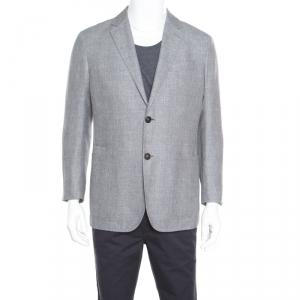 Ermenegildo Zegna Crossover Grey Tailored Blazer L