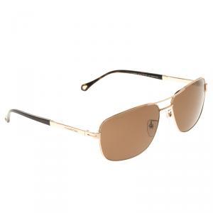 Ermenegildo Zegna Brown SZ3300G Squared Sunglasses