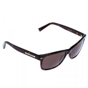Ermenegildo Zegna Brown EZ 000152J Tortoise Shell Square Sunglasses