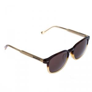 Ermenegildo Zegna Brown/Beige EZ 0005F Square Sunglasses