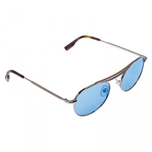 Ermenegildo Zegna Ruthenium/ Grey Barbenini EZ 0104 Round Sunglasses