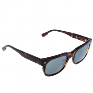 Ermenegildo Zegna Dark Havana/Smoke Grey EZ0101 Square Sunglasses