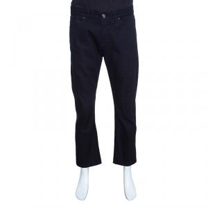 Ermenegildo Zegna Navy Blue Luxury Denim Slim Fit Jeans L
