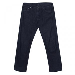 Ermenegildo Zegna Indigo Dark Wash Denim Slim Fit Jeans M