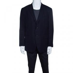 Ermenegildo Zegna Navy Blue Wool 10 Pockets Blazer XXL