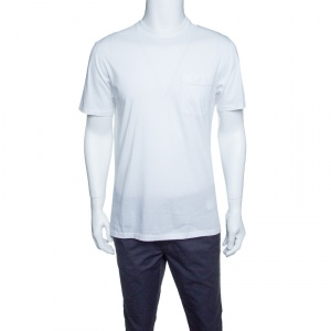 Ermenegildo Zegna White Cotton Short Sleeve Crew Neck T-Shirt M