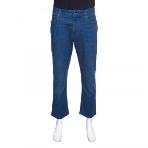 Ermenegildo Zegna Blue Straight Fit Denim Jeans XL