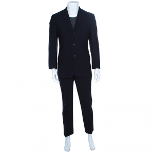 Ermenegildo Zegna Napoli Couture Navy Blue Wool Tailored Suit M