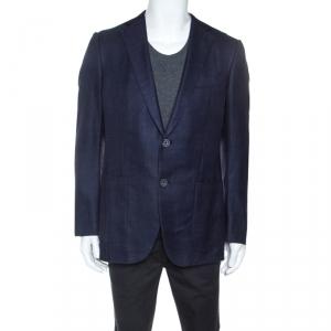 Ermenegildo Zegna Navy Blue Wool Blend Mila Fit Blazer L