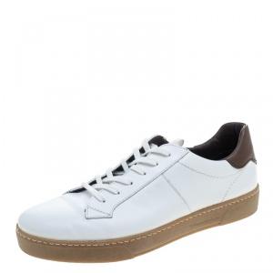 Ermenegildo Zegna White Leather Sneakers Size 42