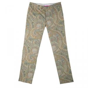 Etro Multicolor Paisley Printed Cotton Trousers L