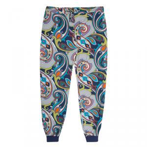 Etro Multicolor Printed Jersey Jogger Pants XL