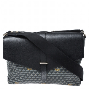 Faure Le Page Black/Grey Canvas and Leather Express 36 Bag