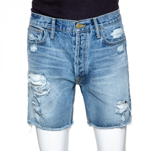 Fear Of God Fifth Collection Indigo Distressed Denim Shorts M