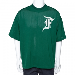 Fear of God Green Mesh Jersey Oversized T-Shirt S