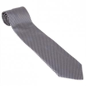 Fendi Black and White Embroidered Tie