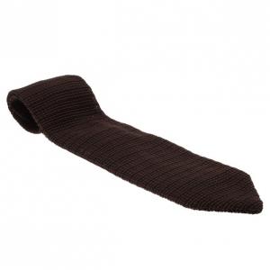 Fendi Brown Woven Silk Tie