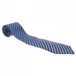 Fendi Blue Striped Silk Tie
