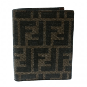 Fendi Tobacco Zucca Coated Canvas Bifold Wallet