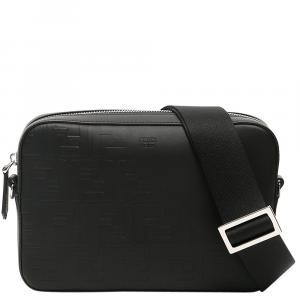 Fendi Black Leather Faded Camera Case Bag