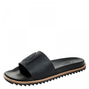 Fendi Black PVC Slide Sandals Size 41