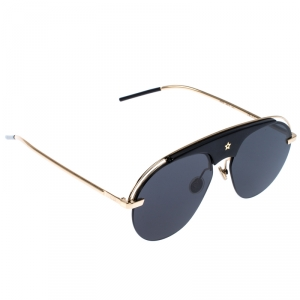 Dior Gold/Black Evolution Aviator Sunglasses