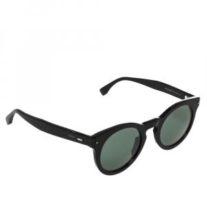 Fendi Black/Green FF 0214/S Round Sunglasses