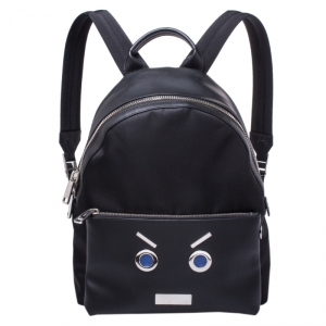"Fendi Black Nylon and Leather No Words""Backpack"