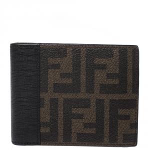 Fendi Black/Tobacco Zucca Canvas Bifold Wallet