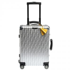 FENDI x Rimowa Black/Yellow Aluminium Cabin Trolley Suitcase
