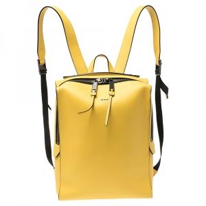 Fendi Mustard Leather Square Backpack