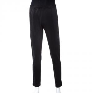 Fendi Black Jersey FF Logo Tape Detail Pants M