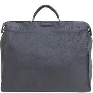 Fendi Black Leather Peekaboo Bag