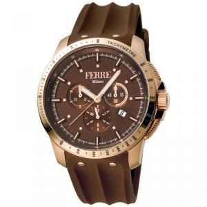Ferre Milano Chocolate Rose Gold Plated Stainless Steel FM1G078P0021 Men's Wristwatch 45MM