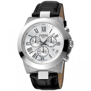 Ferre Milano Silver Stainless Steel FM1G079L0011 Men's Wristwatch 44MM
