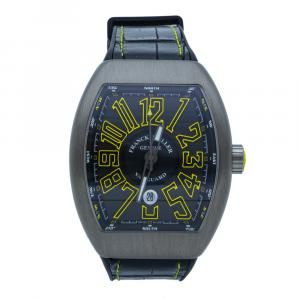 Franck Muller Vanguard Black Dial Titanium Men's Watch 44 MM