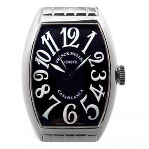 Franck Muller Black Stainless Steel Casablanca Men's Wristwatch 32MM