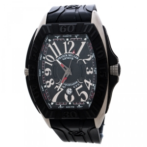 Franck Muller Black Titanium Stainless Steel Conquistador Grand Prix 9900 SC DT GPG Men's Wristwatch 48 mm